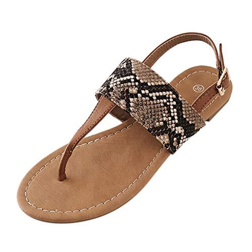 Yesmile Sandali Ciabatte Elegante da Donna Scarpe Estive Piatte da Casa Infradito Scarpe Piatte Indossate Eleganti Ciabattine da Spiaggia Sandali Pantofole da Donna Casual da Spiaggia
