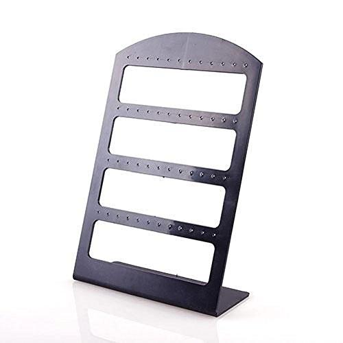 TR.OD 48 Trous Porte Bijoux Boucle d'oreille Plastique Présentoir Support Bijoux Présentoir Organisateur
