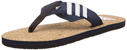 adidas Men's Beach Cork Thong Ms Conavy, Black and White Flip-Flops and House Slippers - 8 UK/India (42 EU)