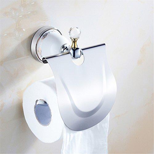 Badaccessoires Sets/Europäische Accessoires Badezimmer WC Silber Keramik Crystal Wand Papier Halter Seife, Toilettenpapier, Rack