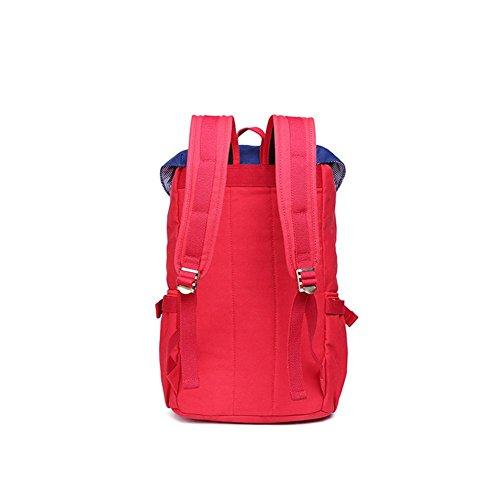 TT Außen Umhängetasche Neutral-Beutel-Rucksack faltbare Reisetasche Red