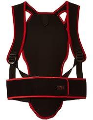 Black Canyon - Protector de espalda para adultos y niños, color negro / rojo - L