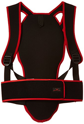 Black Canyon Soft Back Protector for Adults and Children, Unisex, BC5345R, black/red, S