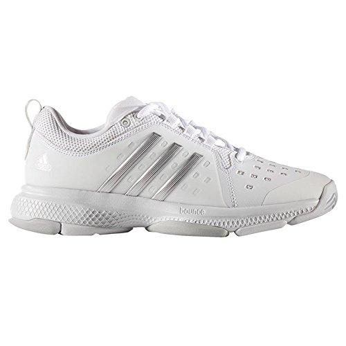 Adidas Barricade Classic Bounce Scarpe da tennis da donna, Donna, bianco / argento, 6 UK - 39.1/3 EU