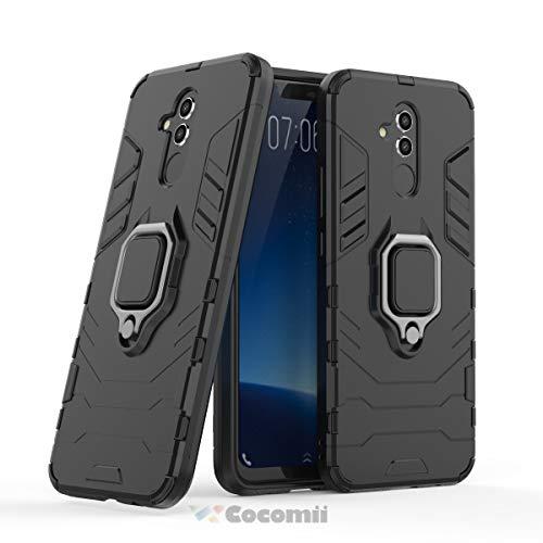 Cocomii Black Panther Armor Huawei Mate 20 lite Hülle [Strapazierfähig] Metallring Ständer [Funktioniert Mit Magnetischer Autohalterung] Case Schutzhülle for Huawei Mate 20 lite (B.Jet Black)