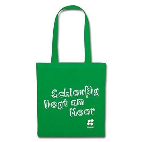 Spreadshirt Leipzig Schleußig Stoffbeutel Kelly Green