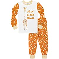 Harry Bear Boys Giraffe Pyjamas Snuggle Fit Multicoloured Age 8 to 9 Years