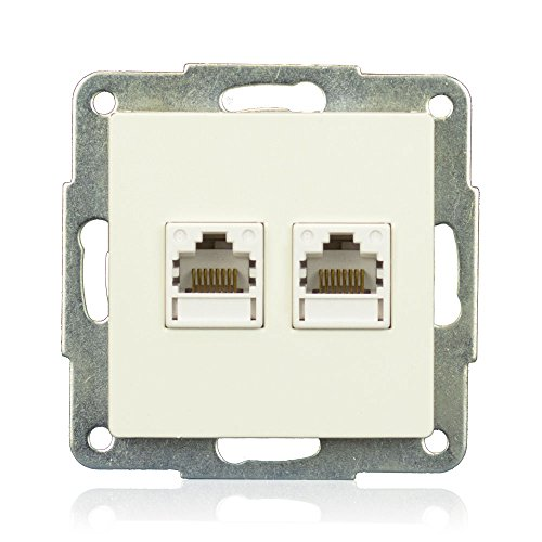 minify EML: Doppel LAN Modul (Cat5, RJ-45, Schneid-Klemm) Eco-Plus Schalterprogramm
