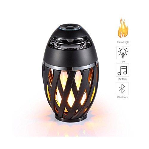 Zantec Bunte LED Flame Bluetooth Lautsprecher mit HD Audio und Enhanced Bass
