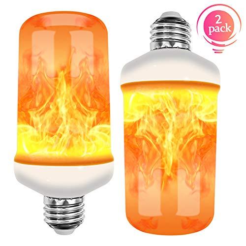 27 Base Flackernde Flamme Glühbirne dekorative Atmosphäre Lampen für Weihnachten, Zuhause, Hotel, Bar, Festdekorationen. (2 Stück) ()