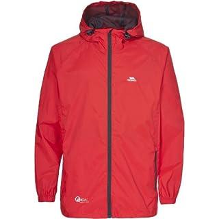 Trespass Qikpac Jacket, Grenadine, XXXL, Compact Packaway Waterproof Jacket Adult Unisex, XXX-Large / 3X-Large / 3XL, Orange