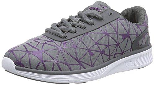 KangaROOS  8012 Unisex-Erwachsene Sneakers Grau (dk grey/purple 264)