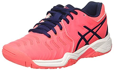 Asics Unisex Kids' Gel-Resolution 7 Gs Sneakers, Pink (Diva Pink/Indigo Blue/White), 6 UK