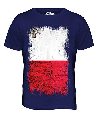 candymix-malta-grunge-flag-mens-t-shirt-top-t-shirt-size-2x-large-colour-navy