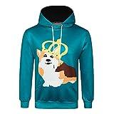 TWBB Herren Weihnachten Winter Warme Kleiner Hund Drucken Kapuzen Kapuzenpullover Mantel Outwear Oberteile Mit Tasche