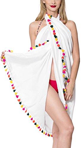 *La Leela* femmes maillots de bain de plage bikini maillot de bain en mousseline de soie pure wrap skrirt paréo