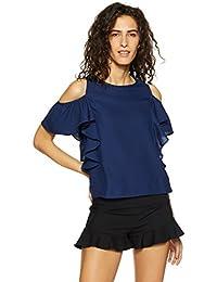 Ms Taken by Kriti Sanon Women's Plain Regular Fit Shirt