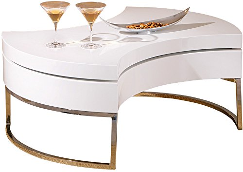 Links 20800890 Turnaround Table Basse Plateau Pivotant Blanc 100 x 100 x 43 cm