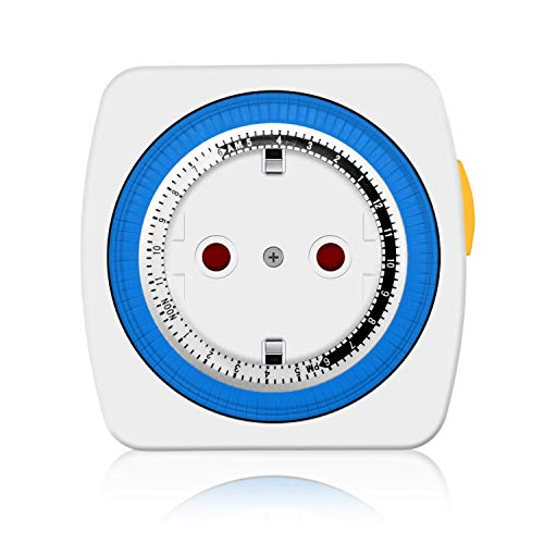 benon Zeitschaltuhr Mechanisch, 96 Segmente (je 15 min) - Auto/On/Off Funktion - Mit Kindersicherung - max. 3680W