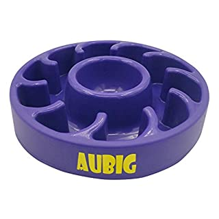 AUBIG Cats Dish Stop Bloat Water Bowl Puppy Slow Feeder Bowl Insert Pets Supplies Pup Feeding Purple