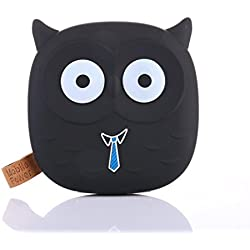 Batería portátil externa de 12000 mAh de Gusspower, con forma de Emoji o dibujo animado bonito y divertido, cargador para smartphones, incluye cable de micro-USB (personalizable) Negro