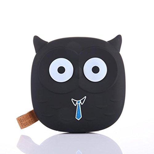 Emoji Power Bank, Gusspower Cartoon Niedlich Lustig Emoji 12000mAh Portable 2 USB External Akku Ladegerät Power Bank Für Smartphone- inklusive Micro USB-Ladekabel (Schwarz)