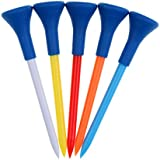 NF&E 5 Pieces Plastic Golf Tees With Rubber Cushion Top