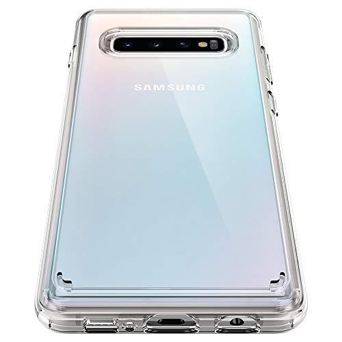 Spigen ultra hybrid cover galaxy s10, con tecnologia air cushion e protezione da goccia ibrida per galaxy s10 - crystal clear