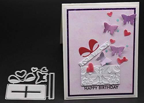 CTOBB Hangers TIE Scrapbook Metallschneideisen für Scrapbooking Stencils DIY Album-Karten Dekoration Embossing Folder Cuts Die, 7.3x7.1cm - Wort Folder Embossing