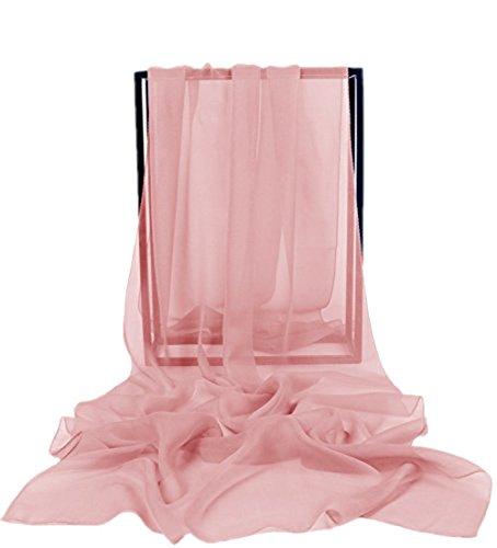Dresstells Chiffon Schal Stola für Abendkleider in verschiedenen Farben Blush 180cmX72cm