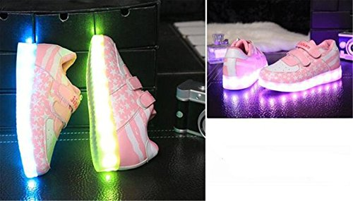 present Sneaker Schuhe Farbwechsel Sportsschu Mädchen Fluorescence Kinder Led junglest® Leuchtend Jungen C29 Handtuch kleines Turnschuhe pWnzvrp