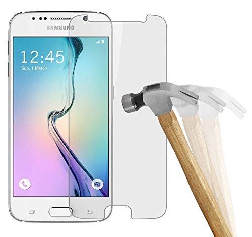 wortek Premium 9H Hartglas / Panzerglas für Samsung Galaxy S6 Displayschutzglas / Tempered Glass / Panzer Glas Display Schutz Folie / Schutzglas / Echt Glas / Verbundglas / Glasfolie / Sicherheitsglas / Display Schutzfolie 0,3 mm dünn (bewusst kleiner als das Display, da dieses gewölbt ist)