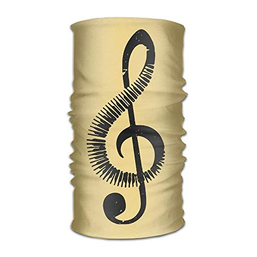 elty Musical Piano Key Multifunction Magic Handscarf,Face Mask,Neck Gaiter,Balaclava,Sweatband,Head Wrap,Outdoor Sport UV Resistence. ()