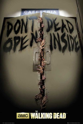Walking Dead, The Poster Keep Out + accessori multicolore
