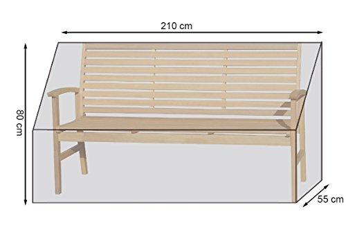 Gartenbankhülle Länge 200 cm PE Weiß Bankabdeckung Abdeckhaube Schutzhülle