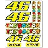 1hoja (104) Valentino Rossi The Doctor Pegatinas Pegatinas VR 46Moto Bike Yamaha R1R6GSX-R Fireblade CBR Kawasaki ZX de R