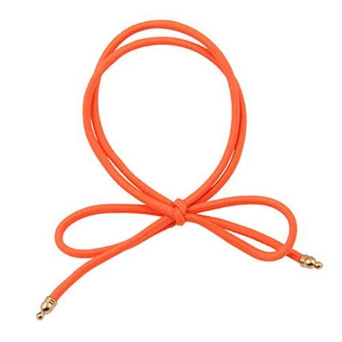 8PCS Elastiques cheveux queue de cheval titulaires Accessoires cheveux, Orange