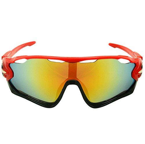 Schutzgläser UV-Sonnenbrillen, Radsportbrillen, Sportbrillen, Outdoor-Klettern Zubehör, PC explosionsgeschützte Materialien (Farbe : A)