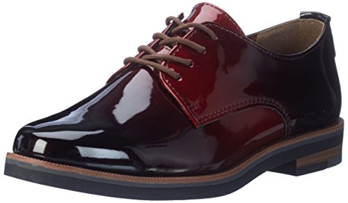 Marco Tozzi Damen 23200 Oxfords, Rot (Merlot Patcom), 39 EU