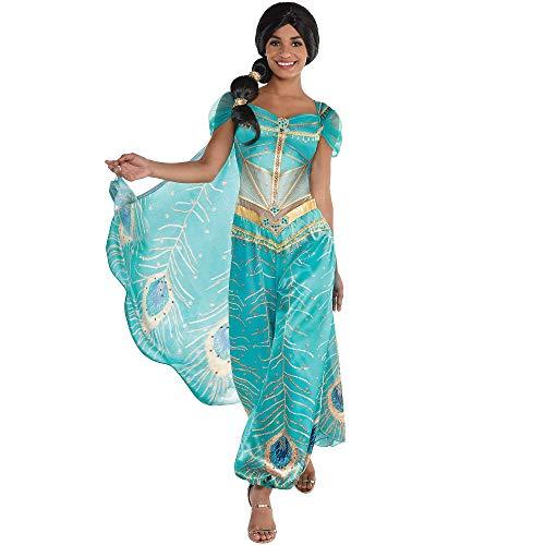 Party City Jasmine Ganze Neue Welt Halloween Kostüm für Frauen Aladdin Live Action mit Zubehör - Mehrfarbig - (Halloween City Kostüm Für Erwachsene)