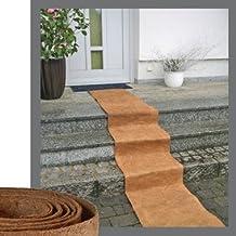 Fibras de coco 3m rollo de alfombra con antideslizante exterior