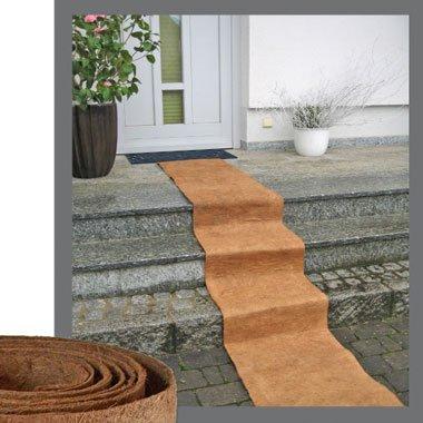 Intervalle - Alfombra (fibras de coco, 3 m, rollo, con exterior antide