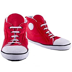 Hi-Top Men's Red Slippers (fit up to a UK size 10 )