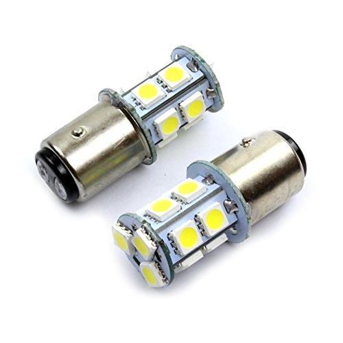 2x XENON WEISS BAY15d P21/5W 12V Halogen Lampen Autolampen Zweifadenbirne Sockel KFZ-Beleuchtung Blinker Standlicht Bremslicht PKW Birne Jurmann® KFZ
