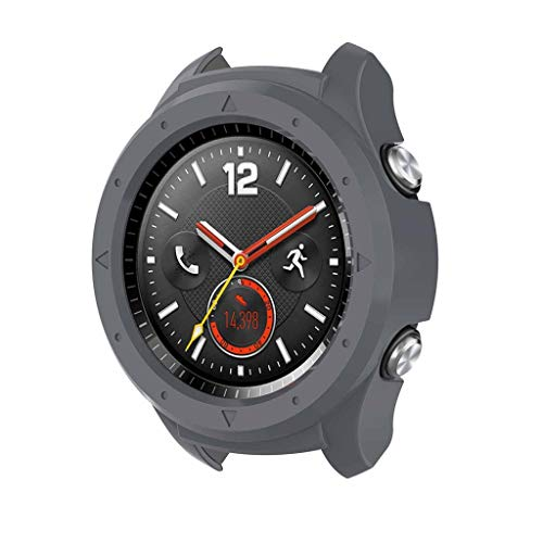 Preisvergleich Produktbild Amalls für Huawei Watch 2 Uhr Intelligent Uhr Smart Watch Ersatz Sport Silikon Schutzhülle Schale PC Schutzhülle (Grau)