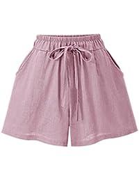 e5f181e62c8bd Familizo Elegante Pantalones Cortos Mujer Básicos Gimnasio Pantalones  Cortos Mujer Verano Deporte Ajustados Cintura Alta Short