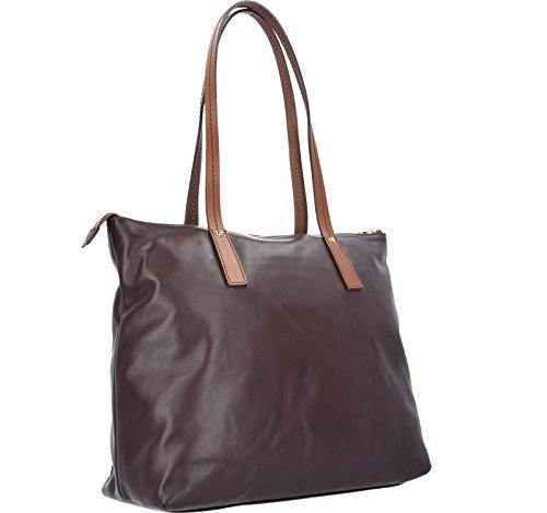 The Bridge Calypso Sac fourre-tout Shopper cuir 43 cm marrone