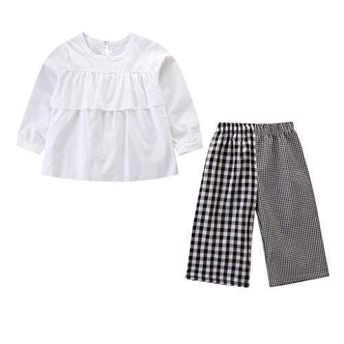 Pwtchenty baby Mädchen Kleidung Set Mode Babykleidung Langarm Hülsen T-Shirt und Lange Hosen Kariertes Weites Keucht Warm Outfits (Spiderman Kostüm Zeichnung)