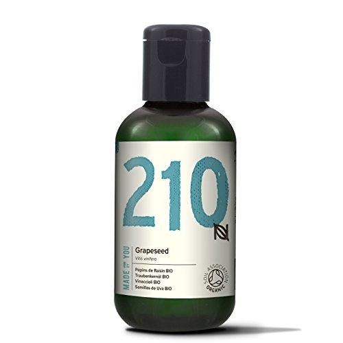 Naissance Aceite Vegetal de Semillas de Uva BIO 60ml - 100% puro, prensado en frío, certificado ecológico, vegano y no OGM
