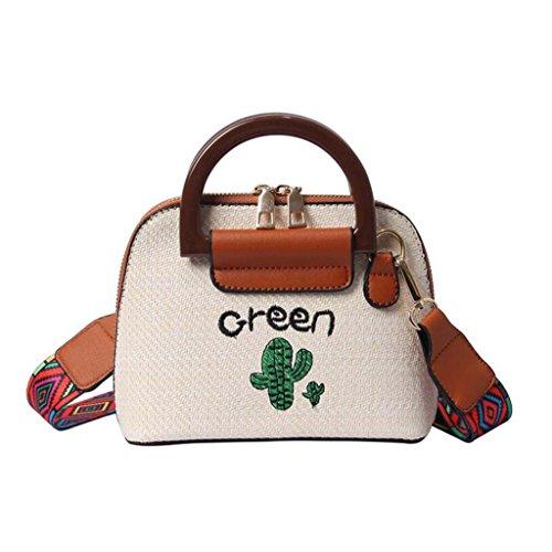 HZTDDA Fee Bag Bestickte Kaktus Schale Kleine Tasche Koreanische Mode Täglich Wild Single Shoulder...